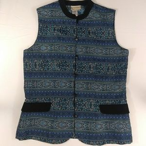 🌹Coldwater Creek Tapestry Vest Sz M